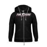 Youth Black Fleece Hoodie-The Shore