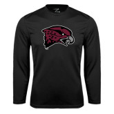 Syntrel Performance Black Longsleeve Shirt-Hawk Head