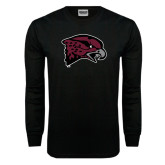 Black Long Sleeve TShirt-Hawk Head