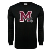 Black Long Sleeve TShirt-M w/ Hawk