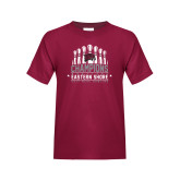 Youth Maroon T Shirt-2017 MEAC Bowling Champions Pins