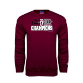 Maroon Fleece Crew-2014 Mens Cross Country Champions Stacked
