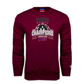 Champion Maroon Fleece Crew-MEAC Bowling Champions Multi-year