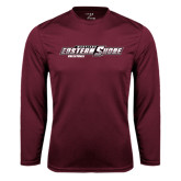 Performance Maroon Longsleeve Shirt-Volleyball