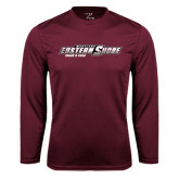 Performance Maroon Longsleeve Shirt-Track and Field