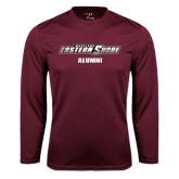 Performance Maroon Longsleeve Shirt-Alumni