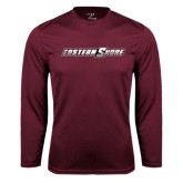 Performance Maroon Longsleeve Shirt-Eastern Shore