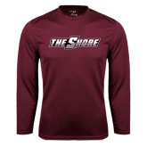 Performance Maroon Longsleeve Shirt-The Shore