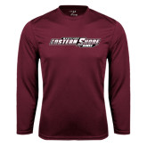 Performance Maroon Longsleeve Shirt-Maryland Eastern Shore Hawks