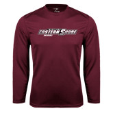 Performance Maroon Longsleeve Shirt-Baseball