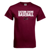 Maroon T Shirt-Baseball Stacked