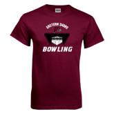 Maroon T Shirt-Bowling Pins Design