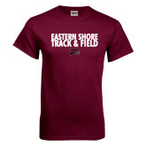 Maroon T Shirt-Track and Field Stacked