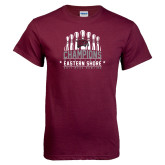 Maroon T Shirt-2017 MEAC Bowling Champions Pins
