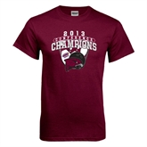 Maroon T Shirt-2013 Bowling Conference Champions