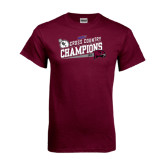 Maroon T Shirt-2014 Mens Cross Country Champions Rise