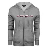 ENZA Ladies Grey Fleece Full Zip Hoodie-Eastern Shore