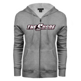 ENZA Ladies Grey Fleece Full Zip Hoodie-The Shore
