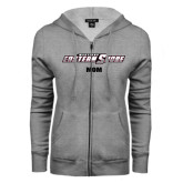 ENZA Ladies Grey Fleece Full Zip Hoodie-Mom