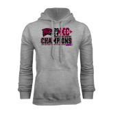 Grey Fleece Hood-2014 Mens Cross Country Champions Stacked