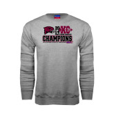 Grey Fleece Crew-2014 Mens Cross Country Champions Stacked