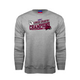 Champion Grey Fleece Crew-2014 Mens Cross Country Champions Rise