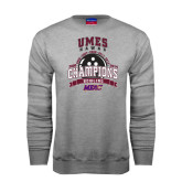 Champion Grey Fleece Crew-MEAC Bowling Champions Multi-year