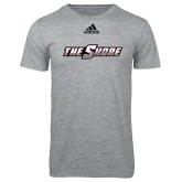 Adidas Sport Grey Logo T Shirt-The Shore