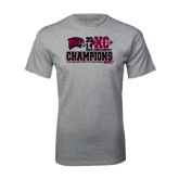 Sport Grey T Shirt-2014 Mens Cross Country Champions Stacked