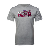 Sport Grey T Shirt-2014 Mens Cross Country Champions Rise