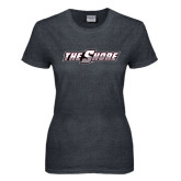 Ladies Dark Heather T Shirt-The Shore