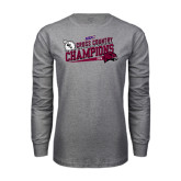 Grey Long Sleeve T Shirt-2014 Mens Cross Country Champions Rise