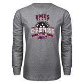 Grey Long Sleeve T Shirt-MEAC Bowling Champions Multi-year