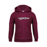 Youth Maroon Fleece Hoodie-Bowling