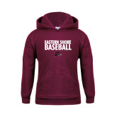 Youth Maroon Fleece Hoodie-Baseball Stacked