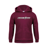 Youth Maroon Fleece Hoodie-Eastern Shore