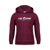Youth Maroon Fleece Hoodie-The Shore