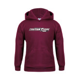 Youth Maroon Fleece Hoodie-Maryland Eastern Shore Hawks