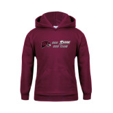 Youth Maroon Fleece Hoodie-Our Team Our Shore