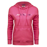 Fuchsia Fleece Hoodie-Primary Mark Foil