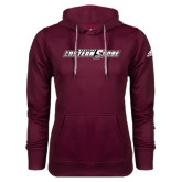 Adidas Climawarm Maroon Team Issue Hoodie-Primary Mark