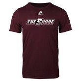 Adidas Maroon Logo T Shirt-The Shore