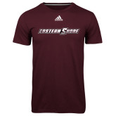 Adidas Climalite Maroon Ultimate Performance Tee-Eastern Shore