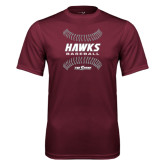 Performance Maroon Tee-Baseball Ball Design