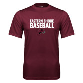 Performance Maroon Tee-Baseball Stacked