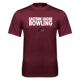 Performance Maroon Tee-Bowling Stacked