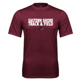 Performance Maroon Tee-Track and Field Stacked
