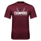 Performance Maroon Tee-Womens MEAC Cross Country Champions 2016
