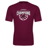 Performance Maroon Tee-MEAC Volleyball Champions 2016
