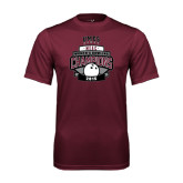 Performance Maroon Tee-2015 MEAC Bowling Champions